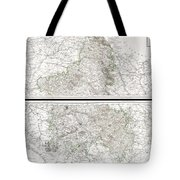 1797 Tardieu Map Of Champagne France Tote Bag