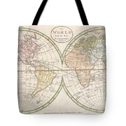 1798 Payne Map Of The World  Tote Bag