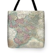1799 Cary Map Of Piedmont Italy  Milan Genoa  Tote Bag