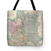 1799 Cary Map Of Poland Prussia And Lithuania  Tote Bag