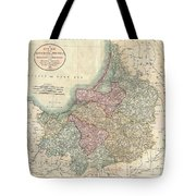 1799 Cary Map Of Prussia And Lithuania  Tote Bag