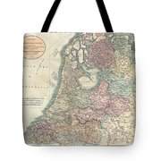 1799 Cary Map Of The Netherlands Tote Bag