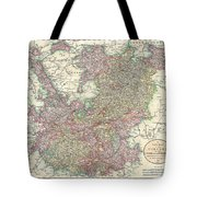 1799 Cary Map Of The Upper And Lower Rhine Tote Bag