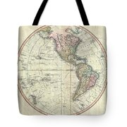1799 Cary Map Of The Western Hemisphere  Tote Bag