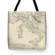 1799 Clement Cruttwell Map Of Italy Tote Bag