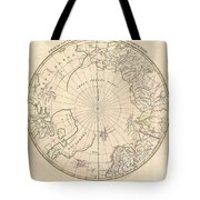 1799 Clement Cruttwell Map Of North Pole Tote Bag