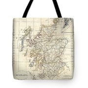 1799 Clement Cruttwell Map Of Scotland Tote Bag