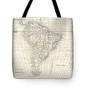 1799 Clement Cruttwell Map Of South America  Tote Bag
