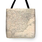 1799 Clement Cruttwell Map Of Spain And Portugal Tote Bag