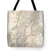 1799 Clement Cruttwell Map Of Sweden Denmark And Norway Tote Bag