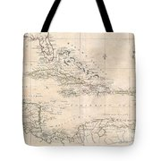 1799 Clement Cruttwell Map Of West Indies Tote Bag