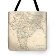 1799 Clement Crutwell Map Of Hindoostan Tote Bag