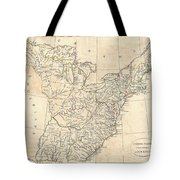 1799 Cruttwell Map Of The United States Of America Tote Bag