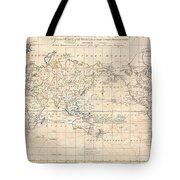 1799 Cruttwell Map Of The World On Mercators Projection Tote Bag