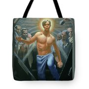 18. Jesus Rises / From The Passion Of Christ - A Gay Vision Tote Bag