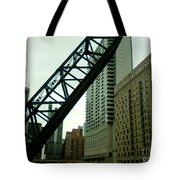 Kinzie Street Bridge Tote Bag
