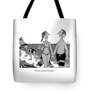 You Are My Blue Beach Glass Tote Bag