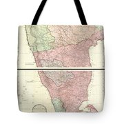 1800 Faden Rennell Wall Map Of India Tote Bag