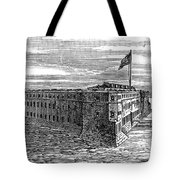 1800s 1860s View Of Fort Taylor Key Tote Bag