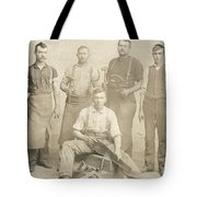 1800's Vintage Photo Of Blacksmiths Tote Bag
