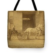 1800's Vintage Photo Of Horse Drawn Carriage Tote Bag