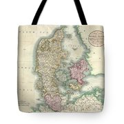 1801 Cary Map Of Denmark Tote Bag