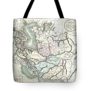 1801 Cary Map Of Persia  Iran Iraq Afghanistan Tote Bag