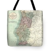1801 Cary Map Of Portugal Tote Bag