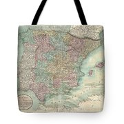 1801 Cary Map Of Spain And Portugal Tote Bag