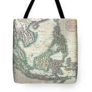 1801 Cary Map Of The East Indies And Southeast Asia  Singapore Borneo Sumatra Java Philippines Tote Bag