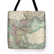1801 Cary Map Of Turkey In Europe Greece And The Balkan Tote Bag