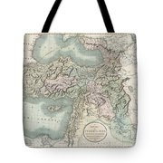 1801 Cary Map Of Turkey Iraq Armenia And Sryia Tote Bag