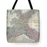 1801 Cary Map Of Upper Saxony Germany  Berlin Dresden Tote Bag