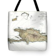 1802 Tardieu Map Of Santo Domingo Or Hispaniola West Indies Tote Bag