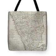 1804 German Edition Of The Rennel Map Of India Tote Bag