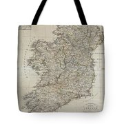 1804 Jeffreys And Kitchin Map Of Ireland Tote Bag