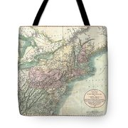 1806 Cary Map Of New England New York Pennsylvania New Jersey And Virginia Tote Bag