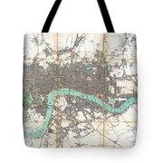 1806 Mogg Pocket Or Case Map Of London Tote Bag