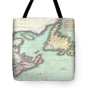 1807 Cary Map Of Nova Scotia And Newfoundland Tote Bag