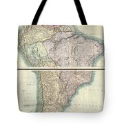 1807 Cary Map Of South America Tote Bag