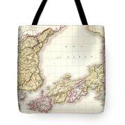 1809 Pinkerton Map Of Korea And Japan Tote Bag