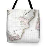 1809 Pinkerton Map Of Southern Africa Tote Bag