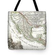 1810 Tardieu Map Of Mexico Texas And California Tote Bag