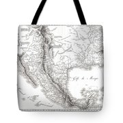 1811 Humboldt Map Of Mexico Texas Louisiana And Florida Tote Bag