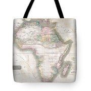 1813 Thomson Map Of Africa Tote Bag