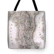 1814 Rizzi Zannoni Map Of Italy Tote Bag