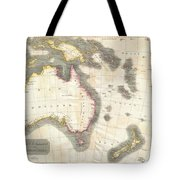 1814 Thomson Map Of Australia New Zealand And New Guinea Tote Bag