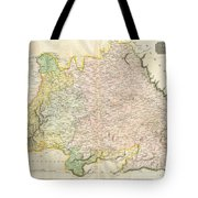 1814 Thomson Map Of Bavaria Germany Tote Bag