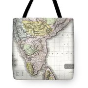 1814 Thomson Map Of India Tote Bag