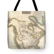 1814 Thomson Map Of North America Tote Bag